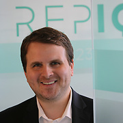 Jonathan Suchland in the REPIQ office Friday July 21, 2017. More/Konstantaras Photography Founded in 2016 by Shawn Carpenter, a serial entrepreneur, and Jonathan Suchland, a former Amazon software development manager, Chicago-based RepIQ crawls the internet to create a database of more than 1 million companies salespeople can tap into, then suggests the best leads to reps.