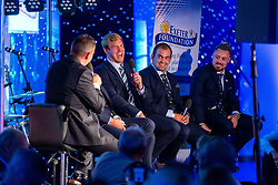 Mark Stevens interviews James McRae during a Q&A Session - Ryan Hiscott/JMP - 06/08/2018 - RUGBY - Sandy Park - Exeter, England - Exeter Chiefs Season Launch Dinner