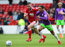 Bobby Reid of Bristol City Battles for the ball with Daryl Murphy of Nottingham Forest - Mandatory by-line: Alex James/JMP - 28/04/2018 - FOOTBALL - The City Ground - Nottingham, England - Nottingham Forest v Bristol City - Sky Bet Championship