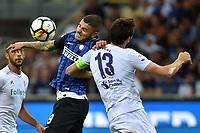 Mauro Icardi Inter, Davide Astori Fiorentina <br /> Milano 20-08-2017 Stadio Giuseppe Meazza <br /> Calcio Serie A Inter - Fiorentina Foto Andrea Staccioli Insidefoto