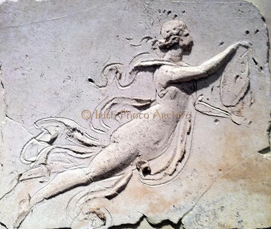 Stucco relief (Roman) depicting a female figure. 1st Century AD