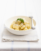 Simple bright look for this light coloured dish of excellent Gnocchi.<br />