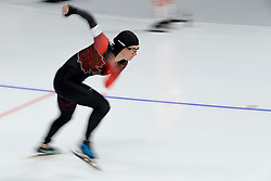 February 12, 2018 - Gangneung, South Korea - Brianne Tutt of Canada starts the Women's 1500M Speed Skating at the PyeongChang 2018 Winter Olympic Games at Gangneung Oval on Monday February 12, 2018. (Credit Image: © Paul Kitagaki Jr. via ZUMA Wire)
