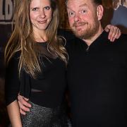 NLD/Amsterdam/20180226 - Premiere De wilde stad, Martijn Fischer en partner Ingeborg Helder