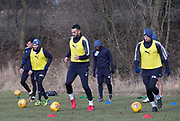 Steven Caulker and Craig Wighton of Dundee - Dundee FC training , Picture by David Young -
