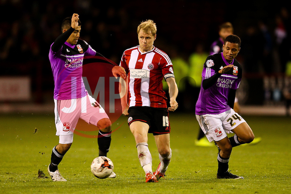James McEveley of Sheffield United in action - Photo mandatory by-line: Matt McNulty/JMP - Mobile: 07966 386802 - 07/05/2015 - SPORT - Football - Sheffield - Bramall Lane - Sheffield United v Swindon Town - Sky Bet League One