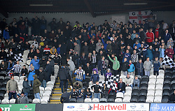Grimsby fans - Photo mandatory by-line: Neil Brookman/JMP - Mobile: 07966 386802 - 14/02/2015 - SPORT - Football - Cleethorpes - Blundell Park - Grimsby Town v Bristol Rovers - Vanarama Football Conference