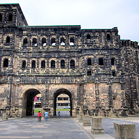 The Black Gate - Porta Nigra: The largest Roman gate north of the Alps in Germany's oldest city, Trier. Built from sandstone between 188 and 200 AD to control access into what was then a walled city. Gives you an idea how massive those walls were - this was the gate!
