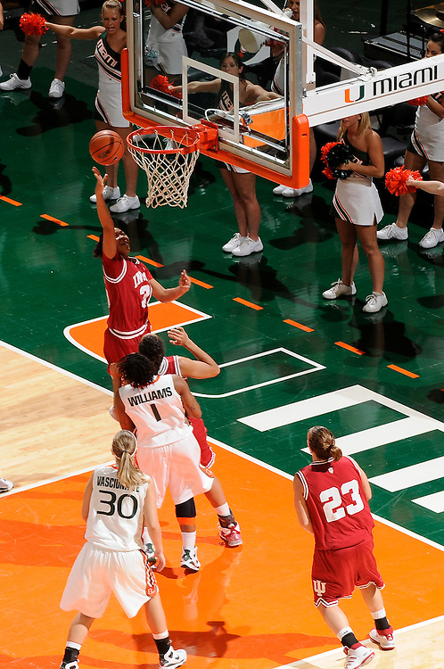 December 5, 2008: Whitney Lindsay of the Indiana Hoosiers in action during the NCAA basketball game between the Miami Hurricanes and the Indiana Hoosiers. The Hoosiers defeated the 'Canes 69-54.