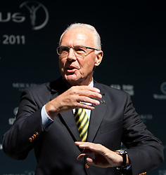 14.11.2011, Hotel Grand Tirolia, Kitzbuehel, AUT, Verleihung Laureus Medienpreis 2011, Roter Teppich im Bild Franz Beckenbauer // at the red carpet of the Laureus Media Award 2011 at the Grand Hotel Tirolia in Kitzbuehel, Austria on 14/11/2011. EXPA Pictures © 2011, PhotoCredit: EXPA/ Johann Groder