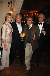 Left to right, GERALDINE LYNTON-EDWARDS, MICHAEL WINNER, LIONEL BLAIR and CHRISTOPHER BIGGINS at a party to celebrate the publication of Michael Winner's new book 'Fat Pig Diet' held at The Belvedere, Holland Park, London on 17th October 2007.<br />