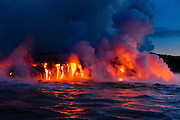 Lava Boat Tour, Kilauea Volcanon, HVNP. Island of Hawaii, Hawaii