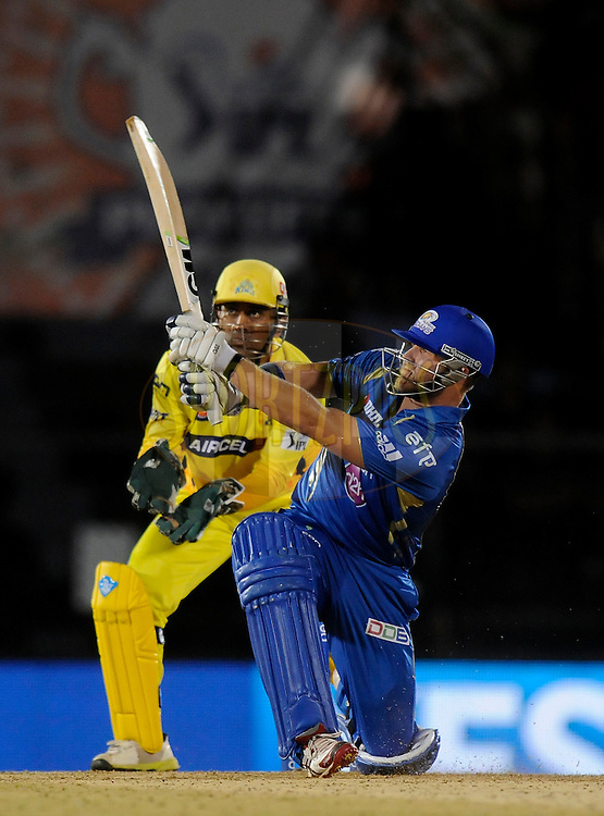 Corey Anderson of the Mumbai Indians bats during the eliminator match of the Pepsi Indian Premier League Season 2014 between the Chennai Superkings and the Mumbai Indians held at the Brabourne Stadium, Mumbai, India on the 28th May  2014<br /> <br /> Photo by Pal PIllai / IPL / SPORTZPICS<br /> <br /> <br /> <br /> Image use subject to terms and conditions which can be found here:  http://sportzpics.photoshelter.com/gallery/Pepsi-IPL-Image-terms-and-conditions/G00004VW1IVJ.gB0/C0000TScjhBM6ikg