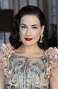 12.JULY.2011. VERSAILLES<br /> <br /> DITA VON TEESE AT CLOSING PARTY FOR THE HAUTE-COUTURE COLLECTIONS AND OPENING OF THE EXHIBITION &quot;LE XVIII EME SIECLE AU GOUT DU JOUR, COUTURIERS ET CREATEURS DE MODE AU GRAND TRIANON&quot; AT VERSAILLES CASTLE, FRANCE.<br /> <br /> BYLINE: EDBIMAGEARCHIVE.COM<br /> <br /> *THIS IMAGE IS STRICTLY FOR UK NEWSPAPERS AND MAGAZINES ONLY*<br /> *FOR WORLD WIDE SALES AND WEB USE PLEASE CONTACT EDBIMAGEARCHIVE - 0208 954 5968*