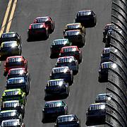 Sprint Cup drivers race down the front stretch during the Daytona 500 at Daytona International Speedway on February 20, 2011 in Daytona Beach, Florida. (AP Photo/Alex Menendez)
