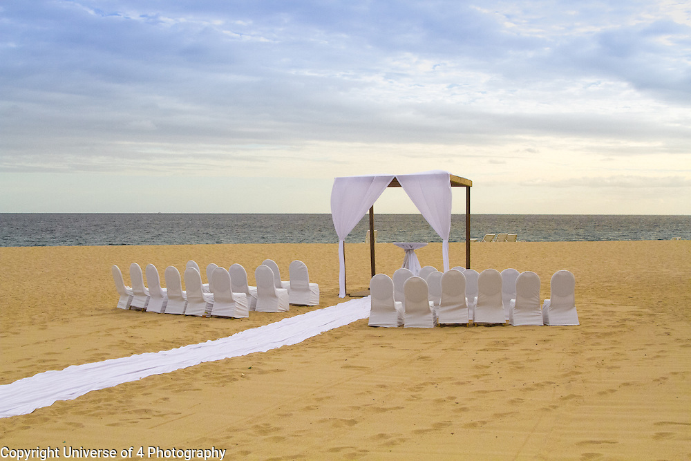 Destination wedding on the beach.