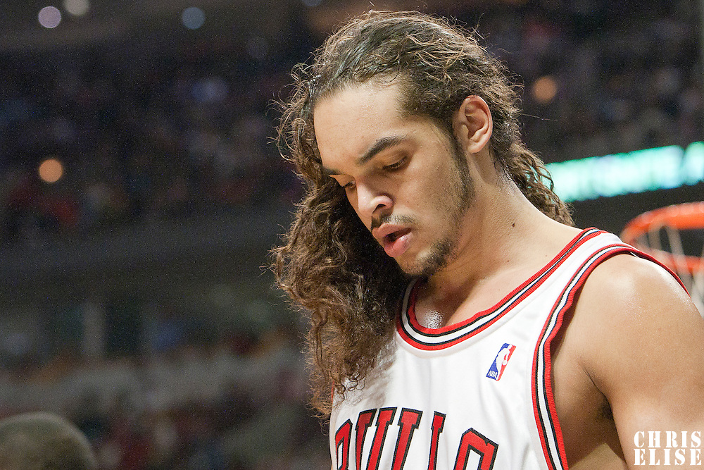 21 December 2009: Chicago Bulls center Joakim Noah looks dejected during the Sacramento Kings 102-98 victory over the Chicago Bulls at the United Center, in Chicago, Illinois, USA.