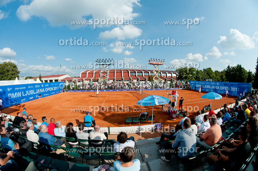 Aljaz Bedene of Slovenia and Ivan Navarro of Spain plays during day five of the ATP Challenger Tour BMW Ljubljana Open 2011, on September 23, 2011, in TC Ljubljana Siska, Ljubljana, Slovenia. (Photo by Matic Klansek Velej / Sportida)