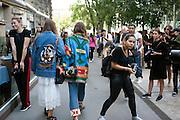 Outside Jil Sander fashion show during Milan Fashion Week woman collectiions Spring Summer 2017, Milano September 24, 2016. © Carlo Cerchioli