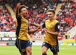 Bobby Reid of Bristol City celebrates after scoring his sides second goal to make the score 2-2 - Mandatory by-line: Matt McNulty/JMP - 10/09/2016 - FOOTBALL - Aesseal New York Stadium - Rotherham, England - Rotherham United v Bristol City - Sky Bet Championship