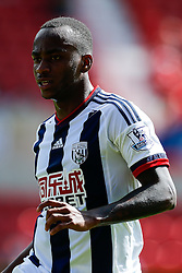 Saido Berahino of West Brom looks on - Mandatory byline: Rogan Thomson/JMP - 07966 386802 - 25/07/2015 - SPORT - Football - Swindon, England - The County Ground - Swindon Town v West Bromwich Albion - 2015/16 Pre Season Friendly.