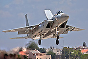 Israeli Air force F-15I Fighter jet at takeoff .