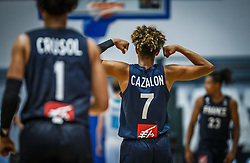 Cazalon  Malcolm of France reacts during basketball match between National teams of Slovenia and France in the Group Phase C of FIBA U18 European Championship 2019, on July 27, 2019 in Nea Ionia Hall, Volos, Greece. Photo by Vid Ponikvar / Sportida
