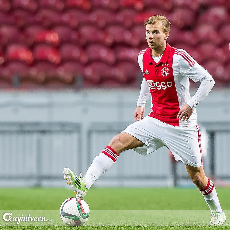 AMSTERDAM  - Jong Ajax - FC Eindhoven , jupiler league , voetbal , de ArenA , seizoen 2014/2015 , 03-04-2015 , Jong Ajax speler Tom Noordhoff