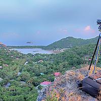 Prises de vues sur les hauteurs de Saline -Saint-Barthélémy.