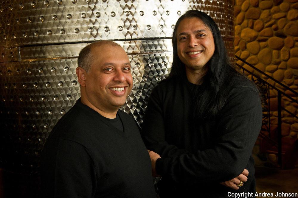 Billo and Pinto Naravane, owners Rasa Winery, Walla Walla, Washington