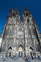 View of famous Cathedral or Dom in Cologne Germany