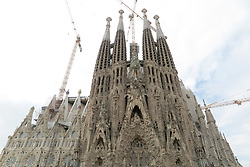 SPAIN CATALONIA BARCELONA 13MAR17 - General view of the Sagrada Familia, a mammoth Basilica construction project spanning more than a century by Catalan architect Antoni Gaudi.<br /> <br /> jre/Photo by Jiri Rezac<br /> <br /> &copy; Jiri Rezac 2017