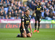 Bolton Wanderers midfielder Liam Feeney wastes a chance during the Sky Bet Championship match between Reading and Bolton Wanderers at the Madejski Stadium, Reading, England on 21 November 2015. Photo by Adam Rivers.