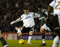 Photo: Leigh Quinnell.<br /> Derby County v Plymouth Argyle. Coca Cola Championship. 30/12/2006. Derbys David Jones has a shot on goal.