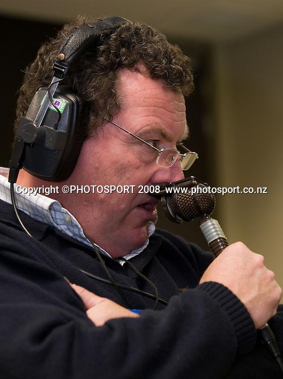 Sky TV commentator John Drake. Air NZ Cup, Waikato v Auckland, Waikato Stadium, Hamilton, Saturday 30 August 2008. Waikato won 34-13. Photo: Stephen Barker/PHOTOSPORT