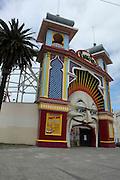 Australia, Melbourne Entrance to the Luna Park at St Kilda,