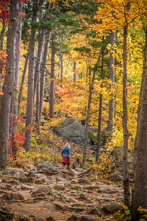 Fall hike up Sugarloaf Mountain, Marquette, Michigan.