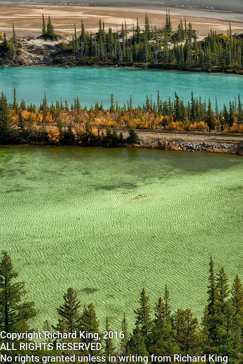 Landscape photographs of Jasper Lake, AB, Canada