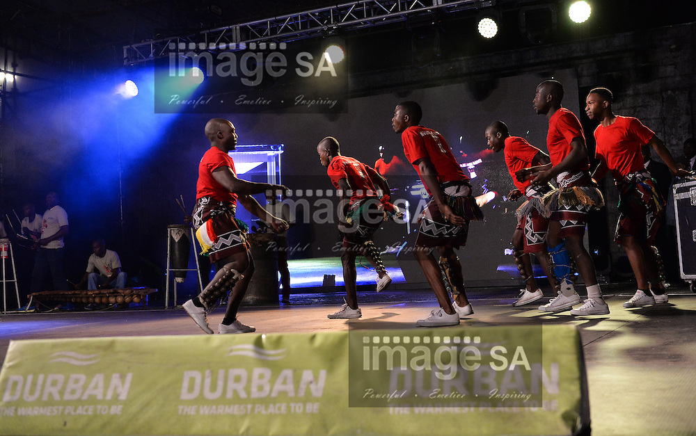 DURBAN, SOUTH AFRICA - JUNE 21: a dance group from Mozambique perform on stage during the CAA 20th African Senior Championships Opening Ceremony at Growth Point Kings Park stadium on June 21, 2016 in Durban, South Africa. (Photo by Roger Sedres/Gallo Images)