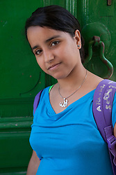 Middle East, Israel, Akko, Arab girl