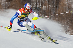 12.12.2010, The Bellevarde race piste, Val D Isere, FRA, FIS World Cup Ski Alpin, Men, Slalom, im Bild GINI Marc SUI attacks a control gate whilst competing in the FIS alpine skiing world cup slalom race on the Bellevarde race piste Val D'Isere. EXPA Pictures © 2010, PhotoCredit: EXPA/ M. Gunn