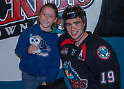 KELOWNA, CANADA - OCTOBER 22:  Home Hardware Stick Girl with Dillon Dube #19 of the Kelowna Rockets at the Kelowna Rockets game on October 22, 2017 at Prospera Place in Kelowna, British Columbia, Canada.  (Photo By Cindy Rogers/Nyasa Photography,  *** Local Caption ***