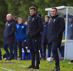 BLACKBURN, ENGLAND - Saturday, January 6, 2018: Liverpool's Under-18 manager Steven Gerrard during an Under-18 FA Premier League match between Blackburn Rovers FC and Liverpool FC at Brockhall Village Training Ground. (Pic by David Rawcliffe/Propaganda)