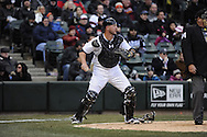 CHICAGO - APRIL 01:  Tyler Flowers #21 of the Chicago White Sox catches against the Kansas City Royals on April 1, 2013 at U.S. Cellular Field in Chicago, Illinois.  The White Sox defeated the Royals 1-0.  (Photo by Ron Vesely)   Subject: Tyler Flowers