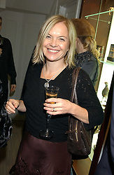 TV presenter MARIELLA FROSTRUP at a party hosted by the Gussalli Beretta family to celebrate the opening of the new Beretta store, 36 St.James's Street, London SW1 on 10th January 2006.<br />