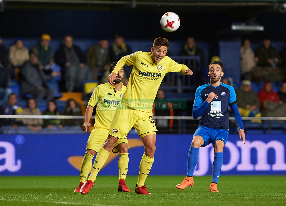 November 30, 2017 - Vila-Real, Castellon, Spain - Pau Francisco of Villarreal CF clears the ball during the Copa del Rey, Round of 32, Second Leg match between Villarreal CF and SD Ponferradina at Estadio de la Ceramica on november 30, 2017 in Vila-real, Spain. (Credit Image: © Maria Jose Segovia/NurPhoto via ZUMA Press)
