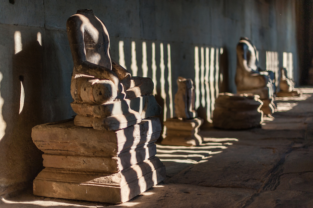 Sculptures at Angkor temple (Cambodia)