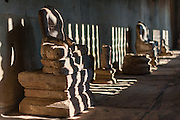 Sculptures at Angkor temple (Cambodia)
