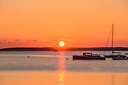Boats, Sunrise, Sag Harbor Bay, Sag Harbor, NY