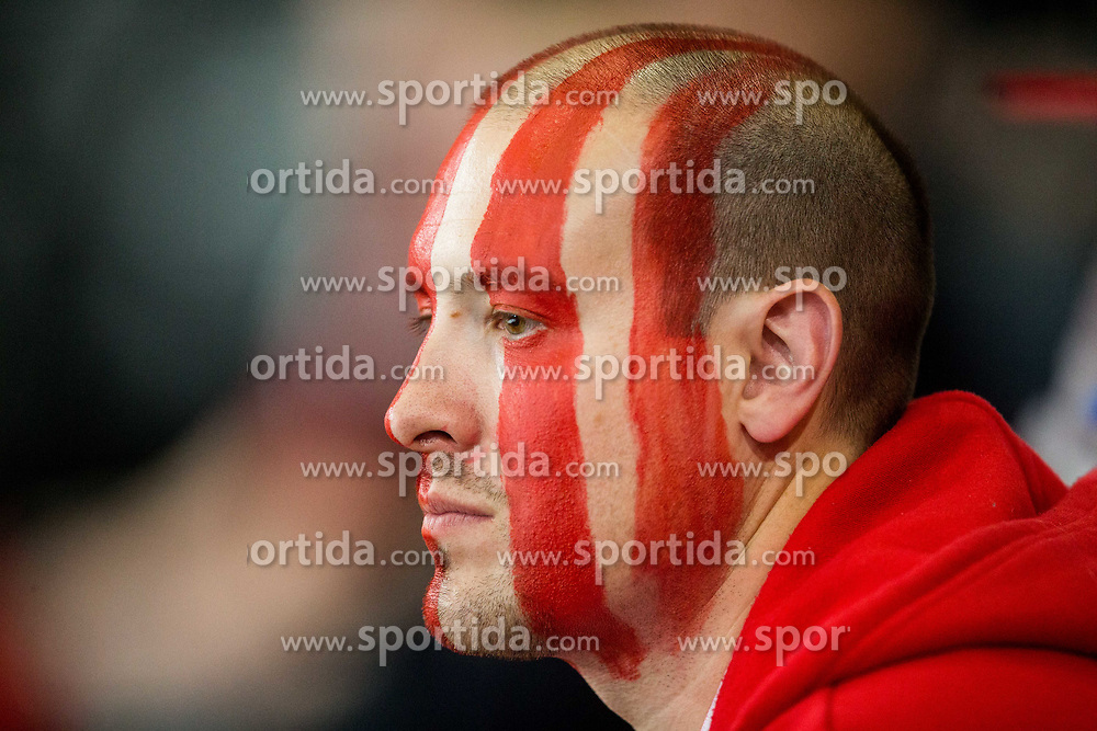 Supporter of Switzerland during the 2017 IIHF Men's World Championship group B Ice hockey match between National Teams of Canada and Switzerland, on May 13, 2017 in AccorHotels Arena in Paris, France. Photo by Vid Ponikvar / Sportida